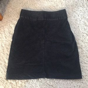 Dark gray corduroy pencil skirt
